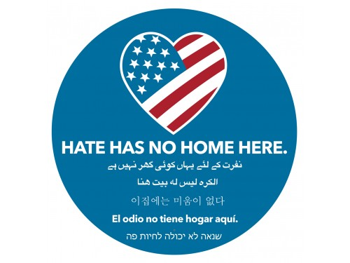 "Hate Has No Home Here - 5"" Car / Refrigerator Magnet"
